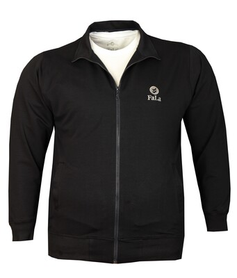 - Büyük Beden Baharlık Fermuarlı Sweatshirt 80016 Lacivert