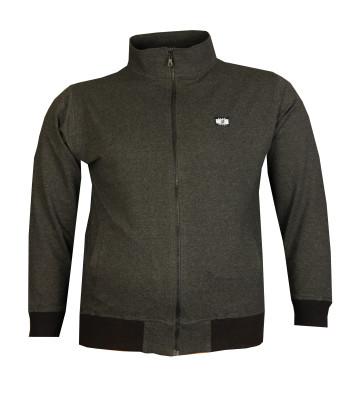 Büyük Beden Baharlık Fermuarlı Sweatshirt 80016 Marango - Thumbnail