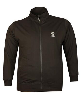 - Büyük Beden Baharlık Fermuarlı Sweatshirt 80016 Siyah