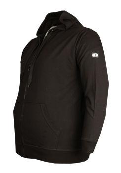 Büyük Beden Baharlık Kapşonlu Sweatshirt 80015 Siyah