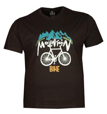 - Büyük Beden Bisiklet Yaka T-shırt 75048 Siyah