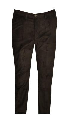 - Büyük Beden Kadife Pantolon Siyah 97171