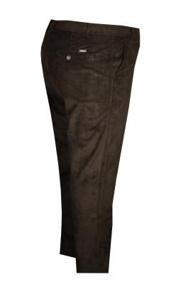 Büyük Beden Kadife Pantolon Siyah 97171 - Thumbnail