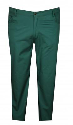 - Büyük Beden Likralı Keten Pantolon Yeşil 97147