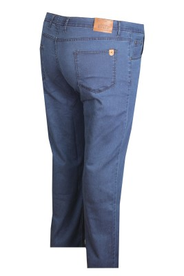 - Büyük Beden Likralı (Renkli) Kot Pantolon 97164 Navy Blue