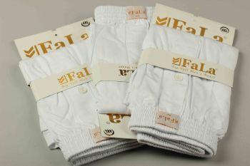 Büyük Beden Penye 3′lü Boxer Set Beyaz 88005