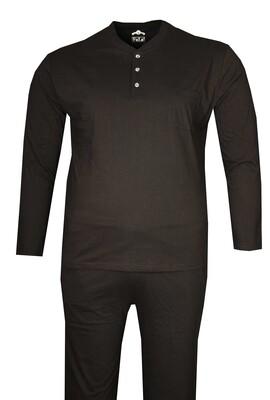 - Büyük Beden Penye Pijama Takımı Siyah 86001