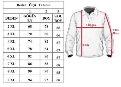 Büyük Beden Polo Yaka Cepli Kazak Lacivert 91053 - Thumbnail