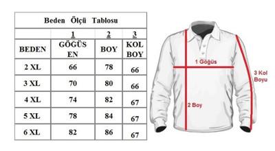 Büyük Beden Polo Yaka Cepli Kazak 91037 Siyah - Lila - Thumbnail