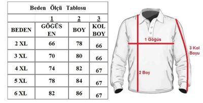 Büyük Beden Polo Yaka Kazak 91031 Lila - Thumbnail