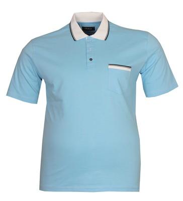 - Büyük Beden Polo Yk Lakos T-Shirt 76101 Mavi