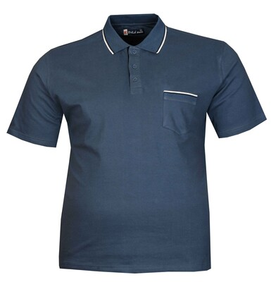 - Büyük Beden Polo Yk Lakos T-Shirt 76101 Marine