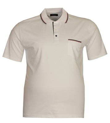 - Büyük Beden Polo Yk Lakos T-Shirt 76101 Beyaz