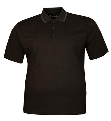 - Büyük Beden Polo Yk Penye T-Shirt 76102 Siyah