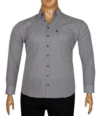 - Büyük Beden Uzun Kollu Gömlek 95350 Lacivert