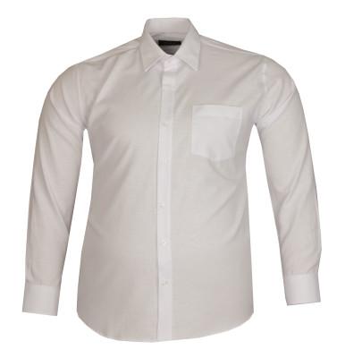 - Büyük Beden Uzun Kollu Düz Gömlek 95369 Beyaz