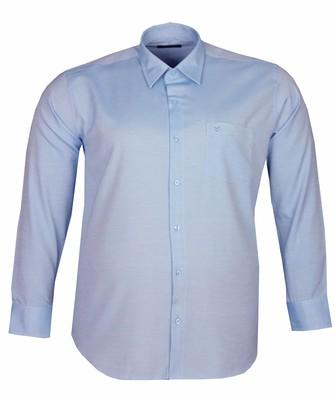 - Büyük Beden Uzun Kollu Düz Gömlek 95369 Mavi