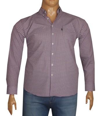 - Büyük Beden Uzun Kollu Gömlek 95351 Mor