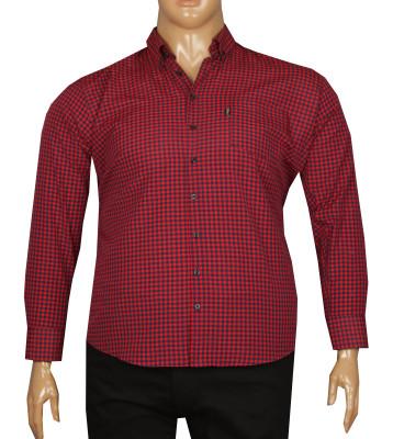 - Büyük Beden Uzun Kollu Gömlek 95352 Kırmızı