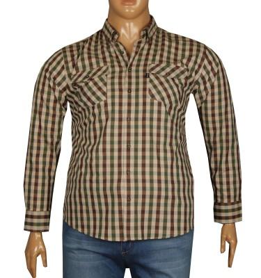- Büyük Beden Uzun Kollu Gömlek 95362 Yeşil