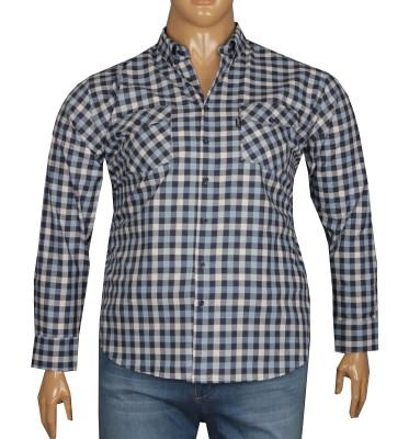- Büyük Beden Uzun Kollu Gömlek 95361 Mavi