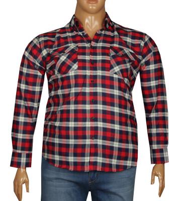 - Büyük Beden Uzun Kollu Gömlek 95360 Kırmızı
