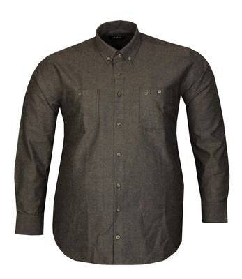 - Büyük Beden Uzun Kollu Oduncu Gömlek Antrasit 95385
