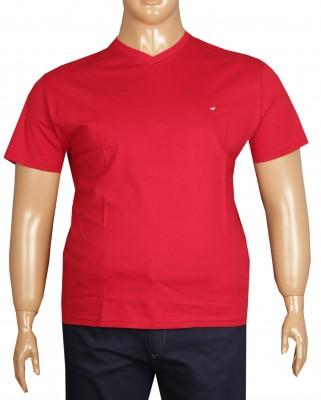 - Büyük Beden V Yaka T-shırt 75002 7 XL -Kırmızı