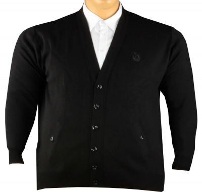 - Büyük Beden Düğmeli Triko Hırka Siyah 92009